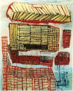 Les livres, huile sur toile, 2003-2004